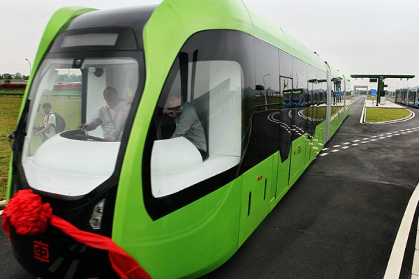 First Railless Train in the world debuts in China