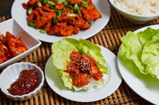 Dak Bulgogi (Korean BBQ Chicken) Lettuce Wraps 1 500